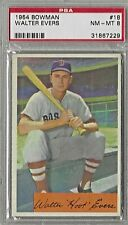 1954 Bowman #18, Walter Evers, Boston Red Sox, NM-MT, PSA 8