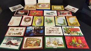 (LOT OF 22) Vintage VFW Christmas/Holiday Cards In Original Box WITH ENVELOPES