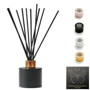 100ml Round Reed Diffuser High Quality Glass Bottle Container Matt Black