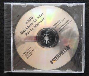 CATERPILLAR 420D BACKHOE LOADER TRACTOR PARTS MANUAL CD SERP 3509 MINT SEALED