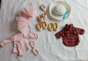 Fisher Price My Friend Doll Clothes Shoe Vintage Lot-ballerina, 3 pair shoes hat