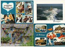 BRETAGNE lot 4 cartes postales DIVERSES
