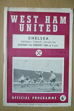 1960 League Division One- WEST HAM UNITED v CHELSEA, 6th February