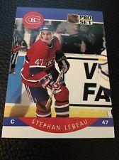Stephan Lebeau Canadiens 1990-1991 Pro Set #152