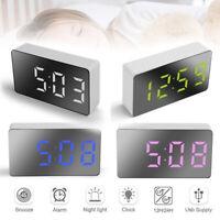 Digital Bedside Led Alarm Clock Time Snooze Table Clock Bedroom Decor