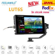 "FEELWORLD LUT6S 6 6"" 2600nits HDR/3D LUT 3G-SDI Field Monitor 4K for DSLR Camera"