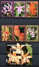Nicaragua 2005 Orchideen Orchids Blumen Flowers Blüten 4391-96 + Block 328 MNH