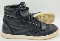 Reebok High Top Faux Leather Trainers 4664682 Black/White UK10/US11/EU44.5