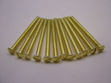 Switch cover plate socket dimmer screws extra length 50mm solid brass,pack of 12