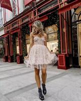 - GIAMBATTISTA VALLI x H&M SHORT TULLE DRESS WITH LACE UK 10 EUR 38 US 6