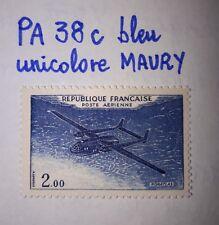 Timbre Poste Aérienne PA38c Neuf** - variété bleu uni Maury - Noratlas - 1960