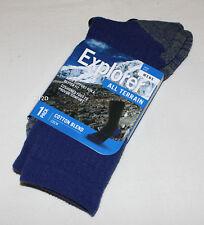 Explorer Socks Mens Navy All Terrain Cotton Blend Crew Socks Size 6 - 10 New