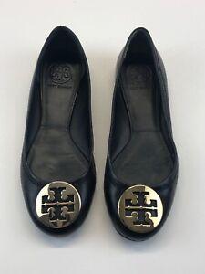 Tory Burch Women Size 7M Reva Ballet Flats - Mestico Black #50008690