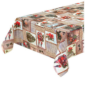 Tablecloth Christmas Stain Plasticized per Meter h140 Cover Board Spirit