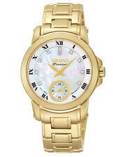 Seiko SRKZ60 Srkz60p1 Ladies Premier Gold Diamond Watch MOP