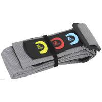 Grey Acoustic Electric Adjustable guitar STRAP pick holder plectrum kids adults