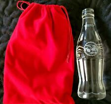 CRYSTAL COKE BOTTLE 75TH SANTA ( ONLY 500 MADE )  ( VERY RARE) +  HTF