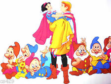 "37"" DISNEY SNOW WHITE PRINCE DWARFS FABRIC WALL SAFE CHARACTER DECAL CUT OUT"