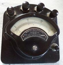 New listing Vintage Portable Weston Volt-Ammeter Model 280 with (3) Dc Shunts & Carry Case