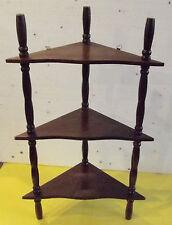 ANCIENNE ÉTAGÈRE A ÉPICES D'ANGLE VINTAGE BOIS 21 x 21 x 48 cm