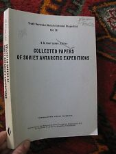 Soviet Antarctic Expedition Papers Research 1969 Glaciers Sea Ice Mirny Solar