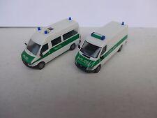 2 x Polizei 1:87 Herpa MB T1N Sprinter