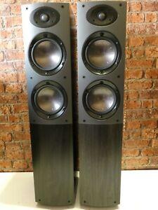 Pair Of Mordaunt Short Aviano 6 Bi-Wire Black Ash Floorstanding Loudspeakers