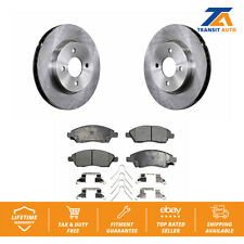 Front Disc Rotors & Ceramic Brake Pads For Nissan Versa Note Micra