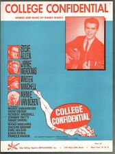 College Confidential 1960 Randy Sparks Mamie Van Doren Sheet Music