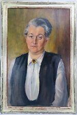 Dipinto Ritratto Donna Dama/olio/tela, a metà 20. secolo.