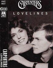 Carpenters Lovelines CASSETTE ALBUM POP VOCAL BALLAD  A&M Records AMC 3931