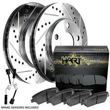 Fit Mercedes-Benz ML320, ML430, ML350 Rear Drill Slot Brake Rotors+Ceramic Pads