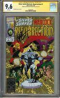 Silver Surfer Warlock Resurrection #1 CGC 9.6 NM+ SIGNED 2x STAN LEE JIM STARLIN