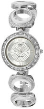 Q&Q by Citizen F341-207Y Crystal Embellished Silver Tone Women's Watch $99