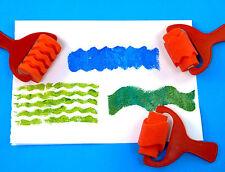 Pattern Rollers  - 7.0cm - sponge  - X 3 unique designs /patterns -  Red set