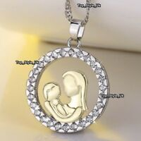 XMAS GIFTS FOR HER Mother Daughter Necklace Gold Silver Jewellery Women Girls S9