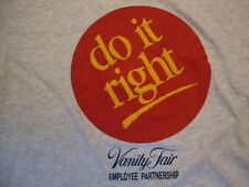 Vintage Vanity Fair Do It Right Employee Partnership Gray T Shirt SIze L