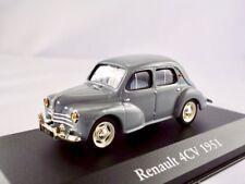 Renault 4cv 1946-1961 gris/Ixo/atlas 1:43