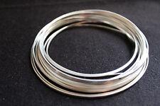 Sweetwater 99.99% Plata Pura Rectangular De Alambre De 2 Mm X 1mm por pulgada