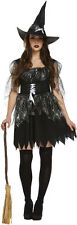 Wicked Witch Spell Caster Ladies Halloween Fancy Dress Costume Size 12-14 P7874