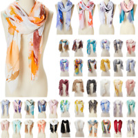 Women Scarf Soft Printed Shawl Wrap Summer Beach Scarves Viscose Stole for girls