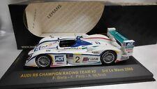 IXO 1/43 AUDI R8 CHAMPION RACING TEAM #2 3rd 24H LE MANS 2005 REF. LMM077