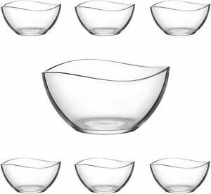 VIRA 7pc Glass Bowls Set Dessert Glassware Ice Cream Sundae Fruit Trifle Bowl