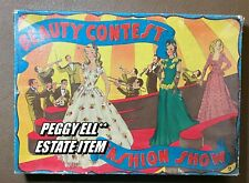 "HTF! 1940'S ONTEX OF CANADA ""BEAUTY CONTEST FASHION SHOW"" 3 PAPER DOLLS SET #137"