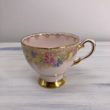 Tuscan Fine English Bone China Tea Cup VINTAGE SOFT PINKS,BLUES,YELLOWS AND GOLD