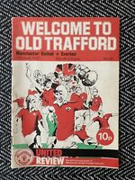 Manchester United v Everton 1976 Programme with token!FREE UK POSTAGE! LAST ONE!