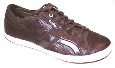 CUSHE MENS THE STANDARD BROWN LEATHER FASHION SNEAKERS SHOES 99% TREAD SIZE-10