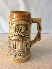 """PIKES PEAK REGION THE BROODMOOR COLORADO Mug Beer Stein 7"""" Tall  NICE pre-owned"""