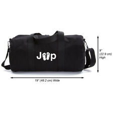 Jeep with Flip Flops Heavyweight Canvas Duffel Bag