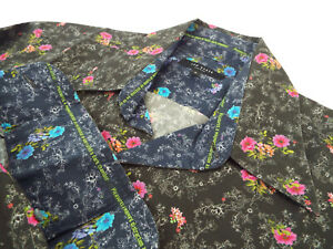 """TED BAKER Mens Shirt 🌍 Size 3 (CHEST 40"""") 🌎 RRP £65-129+ 📮 VIBRANT FLORAL"""